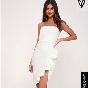 White strapless Lulu's Dress...worn once!